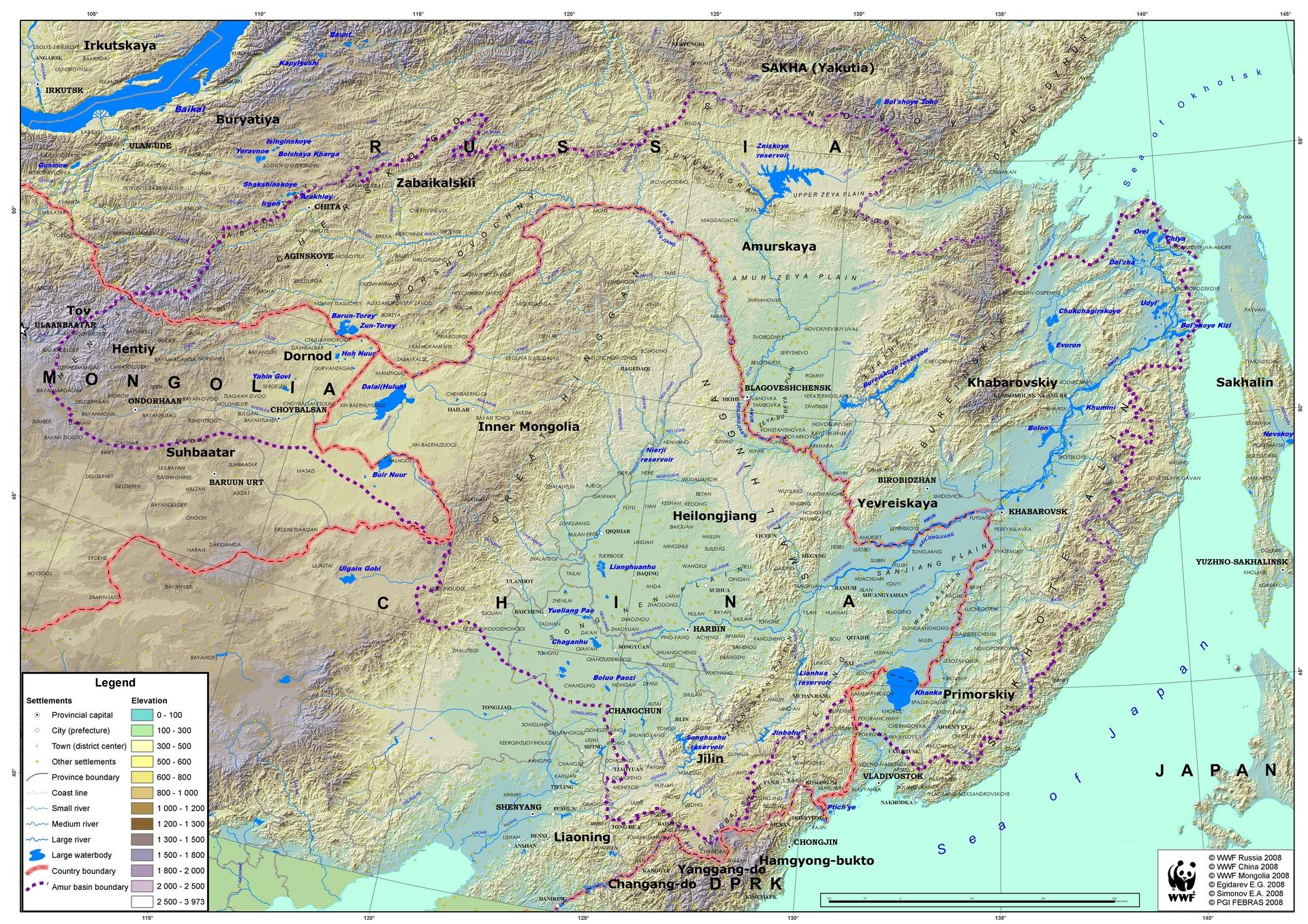 Amur River On World Map.Articles And Researches On Amur Heilong Ecoregion